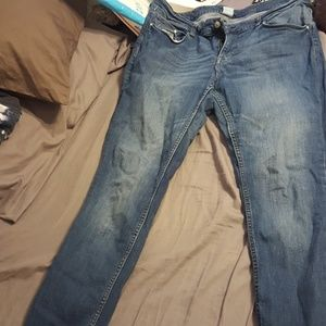 Faded look skinny jeans
